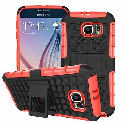 AU7.05 • Buy Shockproof Protection Heavy Duty Tough 2 Layer Phone Case Cover+Stand✔Red