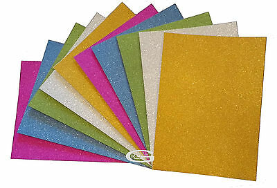 £4.99 • Buy  A4 SILVER GOLD PURPLE GREEN BLUE GLITTER SHEETS CARD MAKING CRAFTING PAPER ARTs