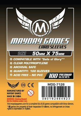 $4.99 • Buy Mayday Sails Of Glory Custom Card Board Game Sleeves 50mm X 75mm 100ct MDG-7126