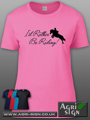 £12.49 • Buy Funny Horse Equine Pony Dressage Show Jumping T Shirt Clothing Gift - Id Rather