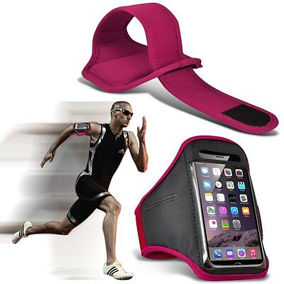 Quality Sports Armband Gym Running Workout Belt Strap Phone Case Cover✔PINK • 4.95£