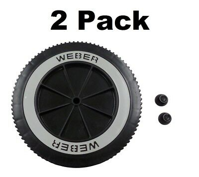 $ CDN57.62 • Buy 2 Weber Grill Part # 63050 8  Wheel And Cap - Gas And Charcoal Kettle Grills