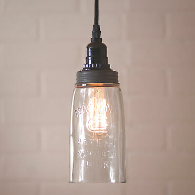 $49.95 • Buy Classic Mason Jar Pendant Light - Solid Glass With 18 Foot Cord & Dimmer Switch