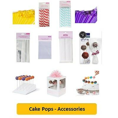 £1.99 • Buy CAKE POPS (Cake Decorating/Baking/Coloured/Accs/Sticks/Stands/Gift Bags/Cello)