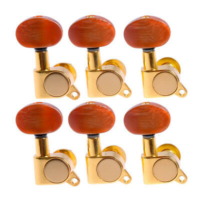 $ CDN24.12 • Buy Guitar String Tuning Pegs Tuners Machine Heads For Lap Steel 6R Gold