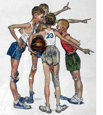 $ CDN5459.18 • Buy Norman Rockwell        Basketball From The Sports        MAKE  OFFER       DDS