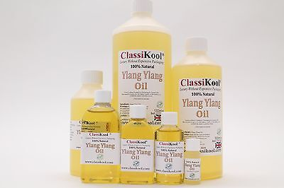 Classikool Ylang Ylang Essential Oil: Pure Natural For Aromatherapy And Massage • 12.99£