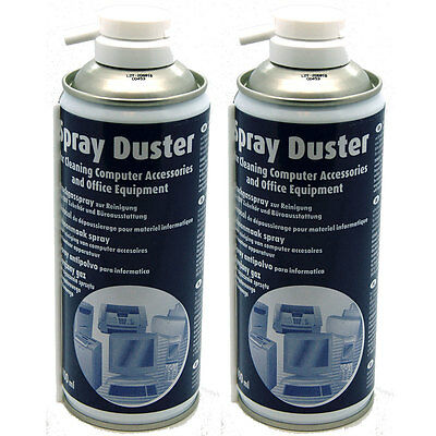 £7.50 • Buy 2 X Compressed AIR DUSTER/CLEANER 400ml SPRAY CAN / CANS - Made In Germany NEW
