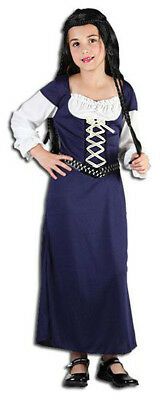 $13.89 • Buy Girls Juliet Medieval Maid Marion Costume Peasant Fancy Dress Outfit New Age 6-8