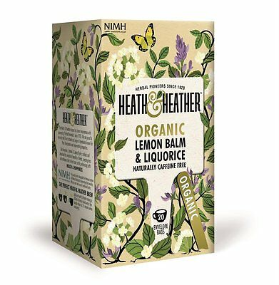 Heath And & Heather Herbal Organic Tea - Lemon Balm & Liquorice - Buy More Save • 3.99£
