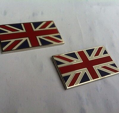 Land Rover   Quality Self Adhesive Union Jack Badges Emamal On Brass  ,BD4-G3 • 9.99£