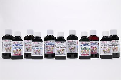 Classikool 30ml Gel Food Colouring Set GEMSTONES Berry Red, Turquoise, Navy Blue • 6.99£