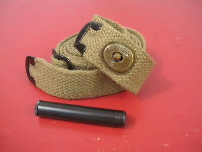$15.99 • Buy WWII US GI M1 Carbine C-Tip Khaki Canvas Sling W/Oiler Dated 1943 - Reproduction