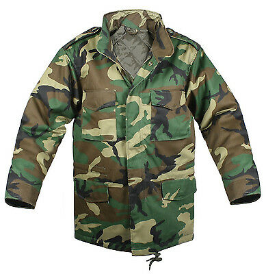 $88.99 • Buy Military Jacket M-65 Army Woodland Camo With Liner Coat M65 Rothco 7991