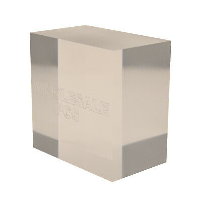 Thick Clear Perspex Acrylic Chunky Plastic Block 15mm 20mm 25mm 30mm 40mm 50mm • 6.42£