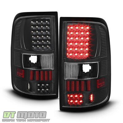 $125.99 • Buy Blk 2004-2008 Ford F150 F-150 Pickup LED Tail Lights Lamps Left+Right 04-08 Set