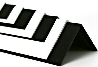 £5.15 • Buy PVC EXTRUDED ANGLE White Or Black 6 Sizes & 10 Lengths Available Plastic Trim