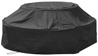 Woodside Black Waterproof Outdoor 6 Seater Round Picnic Table Cover • 19.99£