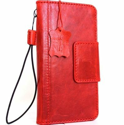 $ CDN43 • Buy Genuine Leather Case For Samsung Galaxy S8 Book Wallet Magnet Closure Cover Red