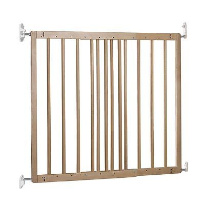 Safetots Extending Beechwood Wooden Stair Gate 60.5-102cm Wooden Baby Gate • 39.90£