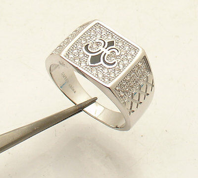 $55.82 • Buy Size 11 Mens ICED OUTCZ Fleur De Lis Ring Real Solid 925 Sterling Silver