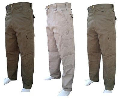 £14.99 • Buy 100% Cotton Mens Combat Trousers Army Military Pants Cargo Work Wear Tactical