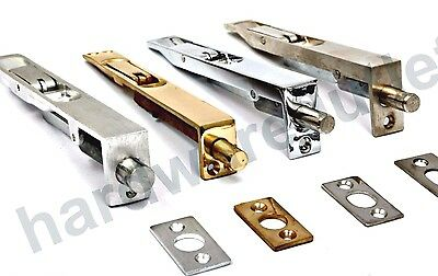 Door Flush Bolts 6 , 8 , 10 , 12   4 Finishes Available & Fixing Screws Included • 10.51£