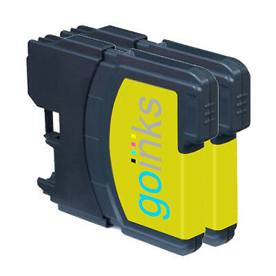 £4.30 • Buy 2 Yellow Ink Cartridges Compatible With Brother DCP-165C MFC-250C DCP-6690CW