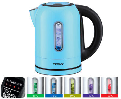AU49 • Buy TODO 1.7L Stainless Steel Cordless Kettle Keep Warm Electric Led Water Jug Blue