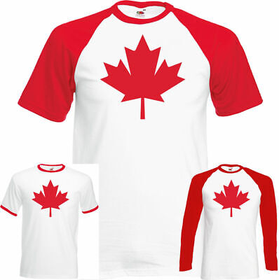 CANADA T-SHIRT Mens Maple Leaf Canadian National Flag Day Ice Hockey Basketball • 9.95£