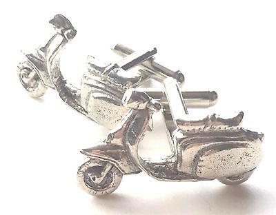 £20 • Buy Scooter Motor Bike Hand Made Pewter Cufflinks (N38) Gift Boxed