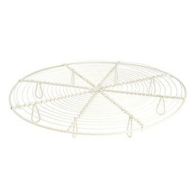 Cooling Rack Robust Metal Chic Cream Finish With 8 Small Feet Protecting Counter • 8.75£