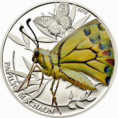 Palau 2013 Butterfly 2 Dollars Silver Coin,Proof • 59.40$