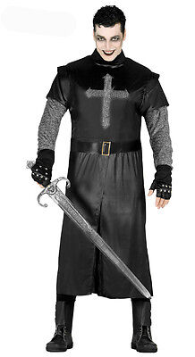 £19.99 • Buy Mens Black Knight Costume Fancy Dress Halloween None Shall Pass ! Size 42-44 NEW