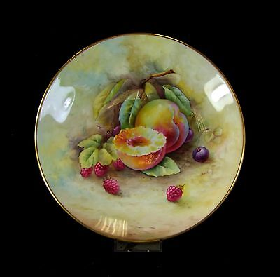 Hand Painted Minton Cabinet Plate - Yellow Plum - Arthur Holland. • 175£