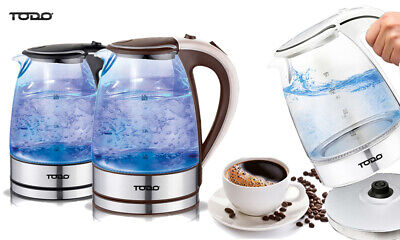 AU29.99 • Buy TODO 1.7L Glass Cordless Kettle 2200W Blue Led Light Electric Water Jug