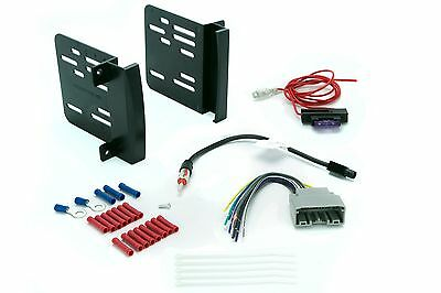 cr1291b car radio dash install kit stereo double din wire harness antenna •  14 99$