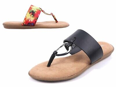 £10.89 • Buy Bamboo Fashion Slip-on T-Strap Slippers Fully Cushioned Footbed Women Flip Flops