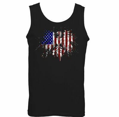 £9.99 • Buy American Eagle Flag Mens Vest USA Patriot Independence Day July 4th Holiday