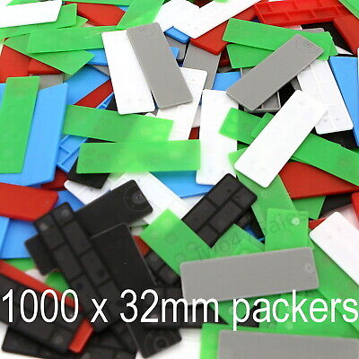 £18.95 • Buy 1000 X 32mm Mixed Glazing Packers Spacers Window Shim Kitchen Flat Double Glass