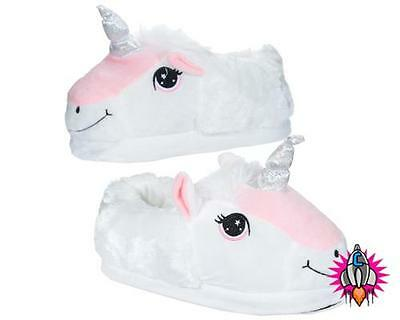 AU27.50 • Buy Unicorn Novelty High Quality Plush Slippers Adults Children's Kids New With Tags