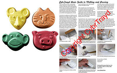 $10.99 • Buy Animal Kids Critters Soap Mold. Melt & Pour W/Instructions + FREE Packaging Kit