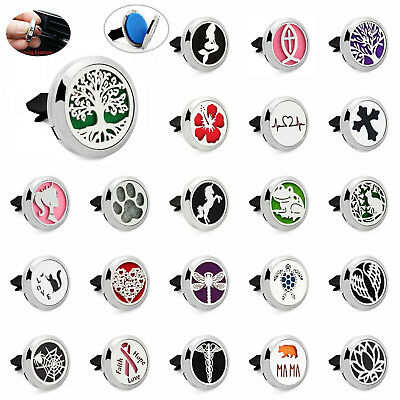 AU3.38 • Buy Stainless Car Vent Clip Diffuser Essential Oil Air Freshener Aromatherapy Locket