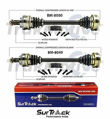 $253.10 • Buy For BMW M3 01-06 Z4 06-08 V6 RWD Pair Of Rear CV Axle Shaft Assies SurTrack Set