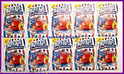 10 Kool-Aid Red White N Blue Unsweetened Drink Mix Extremely Rare Collectible • 10.63£