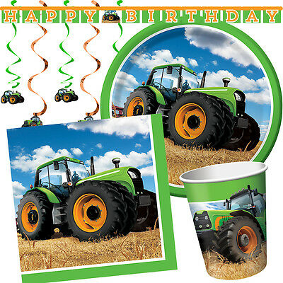 AU6.40 • Buy TRACTOR TIME Birthday Party Range - Farm Animal Tableware Balloons & Decorations
