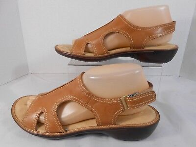 9dad050a35d5 Dr Scholls Advanced Comfort Womens Size 9 Strappy Slingback Walking Sandals  Tan • 18.88