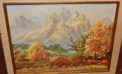 $ CDN88.24 • Buy Esther Small Oil On Canvas Mountain Landscape Painting