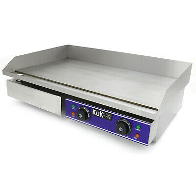 Commercial Electric Griddle Countertop Kitchen Hotplate BBQ Stainless Steel 73cm • 199.99£