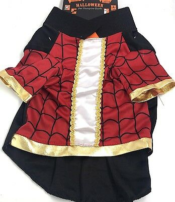 £3.99 • Buy Dog Pet Halloween Black Red Vampire Outfit Costume New